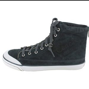 Coach high tops in Black nubuck leather